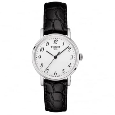 Ladies Black Leather Everytime Watch T1092101603200