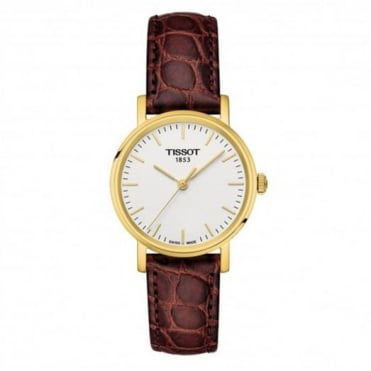 Ladies' Brown Leather Everytime Watch T1092103603100