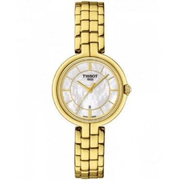 Tissot Ladies Gold Plate Flamingo Watch T0942103311100