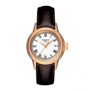 Tissot Ladies' Rose Plate Brown Strap Carson Watch T0852103601300