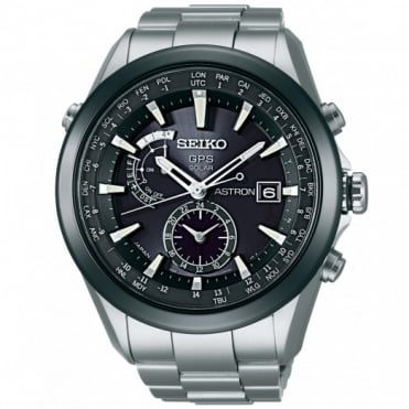 Seiko Astron Titanium & Ceramic GPS Solar Watch SAST003G