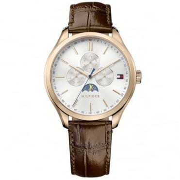 Tommy Hilfiger Gent's Brown Leather Oliver Watch 1791306