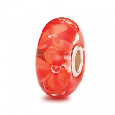 Trollbeads Coral Flower Glass Bead 61433