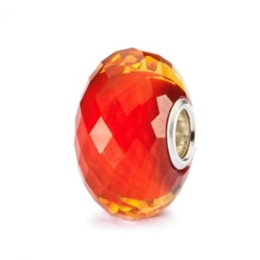 Saffron Facet Glass Bead 62030