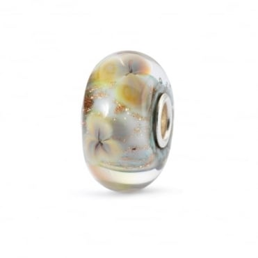 Trollbeads Silver Floral Wishes Glass Bead TGLBE-10330