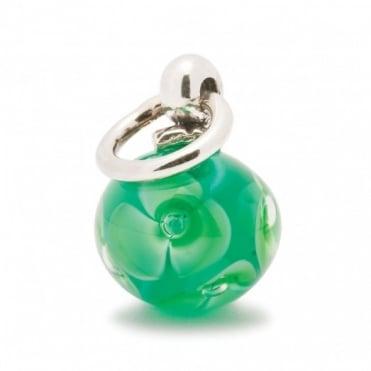 Trollbeads Silver Green Tassel Bead 61728