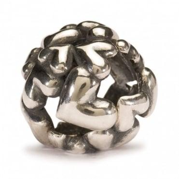 Trollbeads Silver Heart Ball Bead 11446