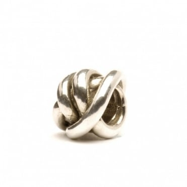 Silver Lucky Knot Bead 11112