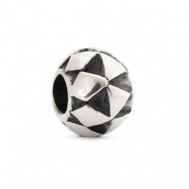 Silver Moroccan Cushion Bead 11373