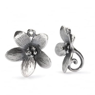 Trollbeads Silver Troll Anemone Earrings TAGEA-30003
