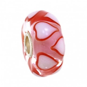 White & Red Love Symphony Glass Bead 64617-4