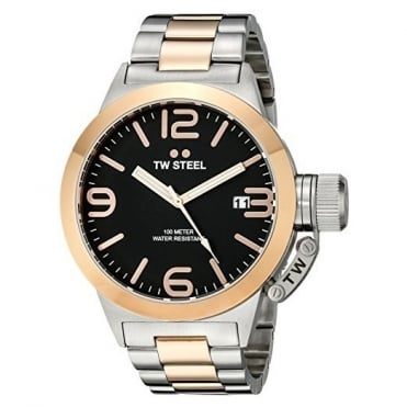 TW Steel Men's 45mm Two Tone Canteen Watch CB131