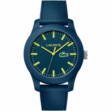 Lacoste Unisex Blue Rubber 12.12 Watch 2010792