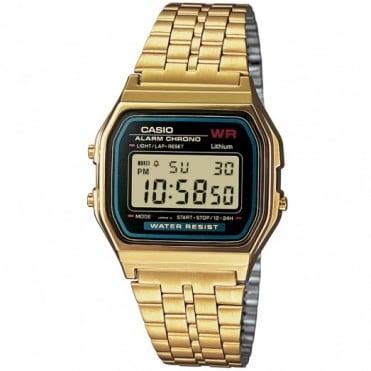 Casio Unisex Classic Alarm Chronograph Watch A159WGEA-1EF