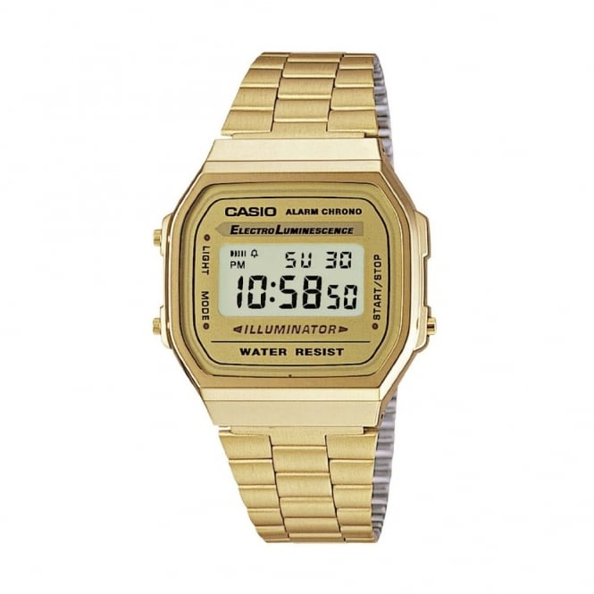 Casio Unisex Classic Leisure Alarm Chronograph Watch A168WG-9EF