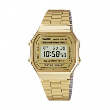 Casio Unisex Classic Leisure Alarm Chronograph Watch A168WG-9EF