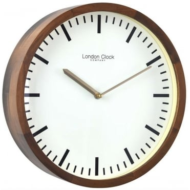 Walnut Wooden Wall Clock 01235