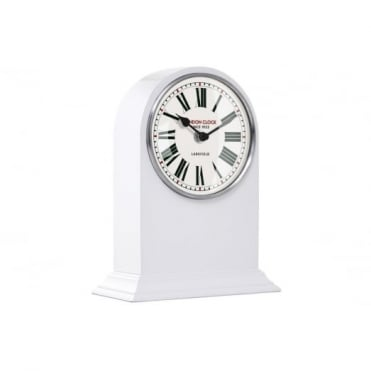 White Arch Mantel Clock 06384