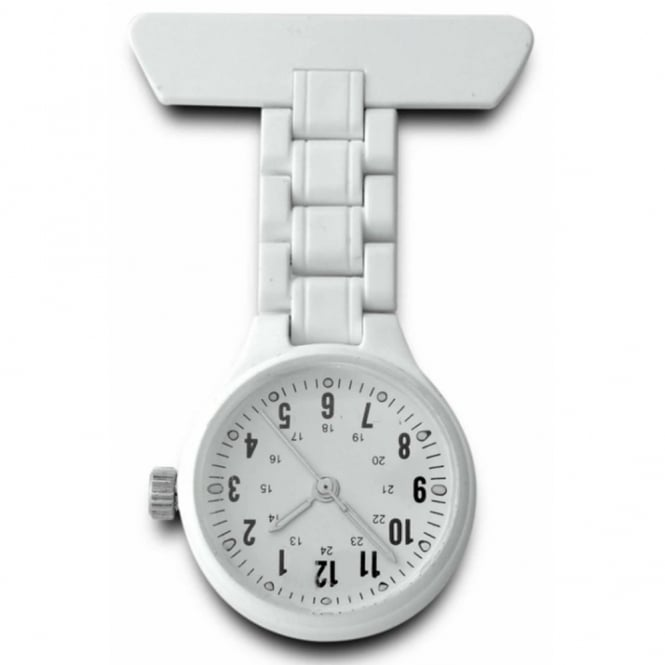 White Plastic Nurse Fob Watch 4365