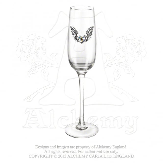 Wings Of Love Wine Glasses CWT54
