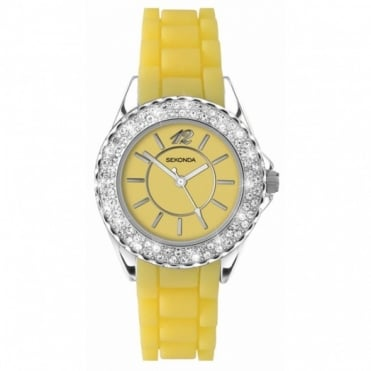 Yellow Ladies Watch 4450