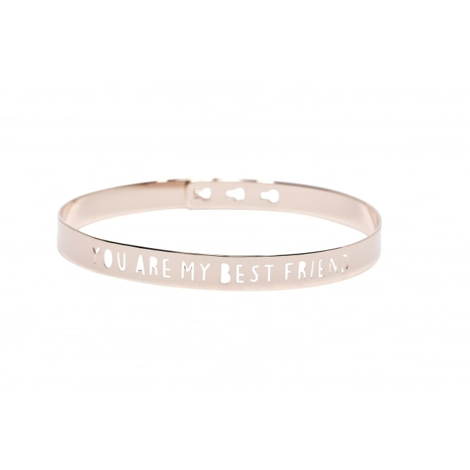 You Are My Best Friend Pink Gold Bangle JL-15.P